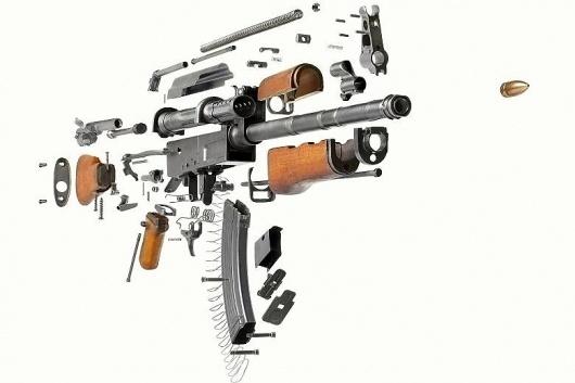 Break apart view of AK47 Gun #ak47 #gun #weapon #photo