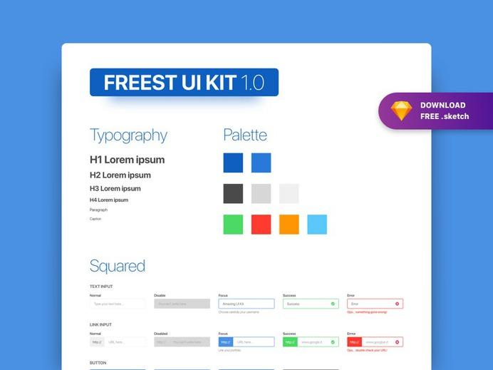 Free UI Kit Sketch