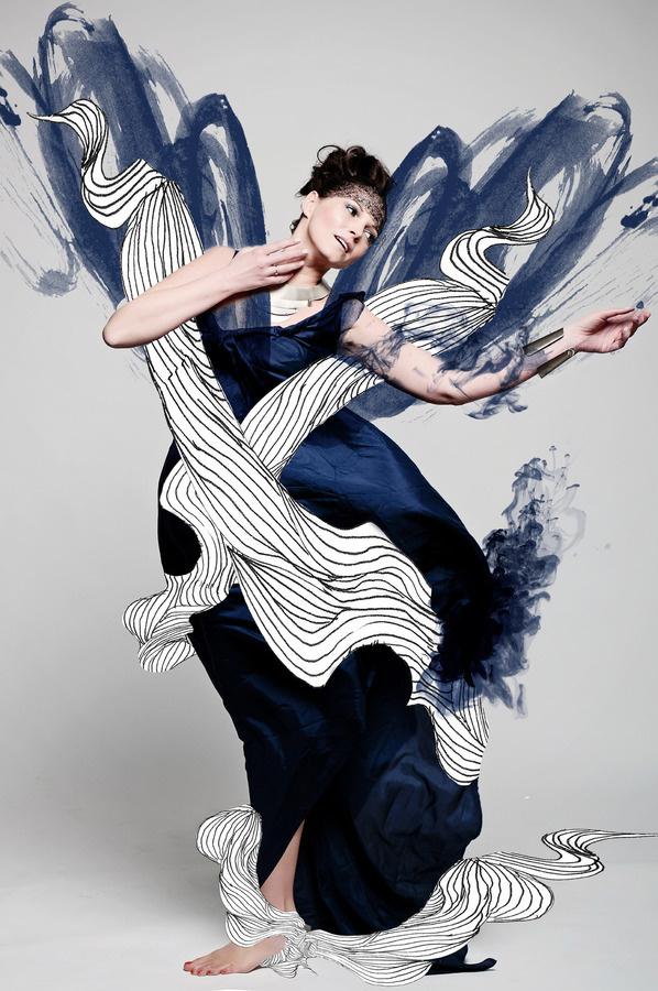 Cooperation with model Ilona Feliciańska and photographer Anna Powierża, illustrations Mateusz Suda #suda #model #mateusz #felicjanska #poland #fashion