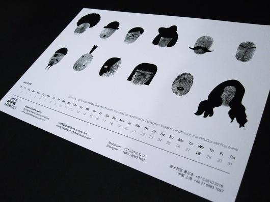 Ammanda Choo - Krop Creative Database #white #print #design #graphic #calendar #black #and #ammanda #choo