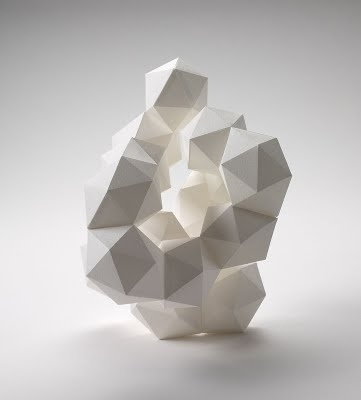 all things paper: Daryl Ashton, Paper Sculpture Artist #paper #polygons