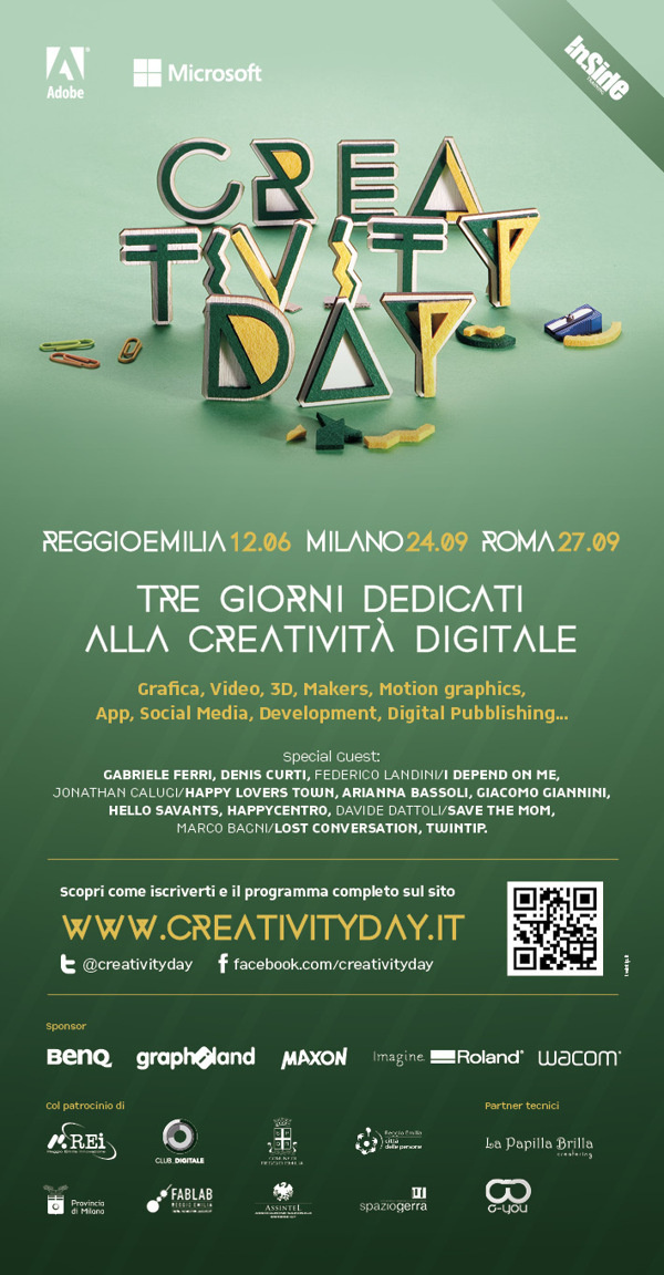 Creativity Day 2013 on Behance #twintip #event #flyer #creativity #day #made #hand