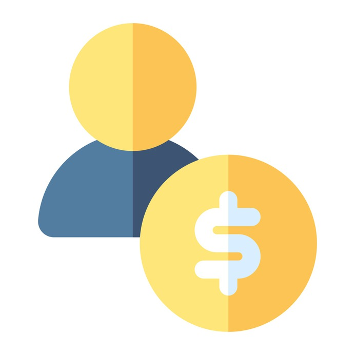 See more icon inspiration related to shopper, money, client, business and finance, dollar symbol, user, dollar, avatar and target on Flaticon.