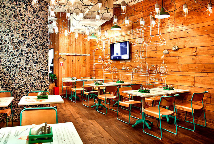 Restaurant so Luxuriantly Adorned with Graffiti flagship restaurant obed bufet 7 #interior #design #restaurant