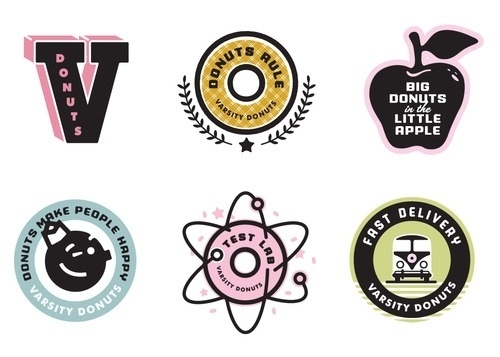 Matt Stevens // Creative Direction + Design - WORK BLOG #vector #logos #donuts #pink #plaid #clean #simple #blue