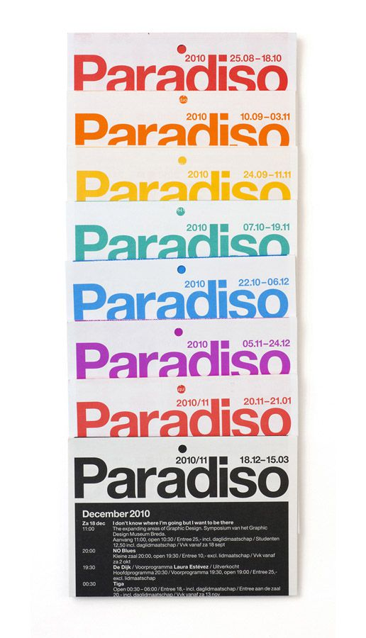 Experimental Jetset - Paradiso Poster/Folder #typography #layout