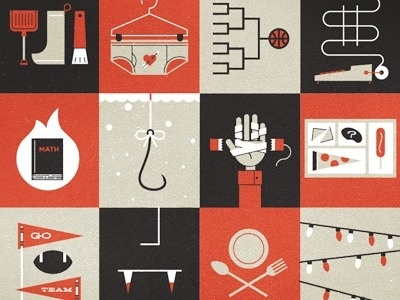 Dribbble - Boom. Calendared. by Scott Hill #illustration #vintage