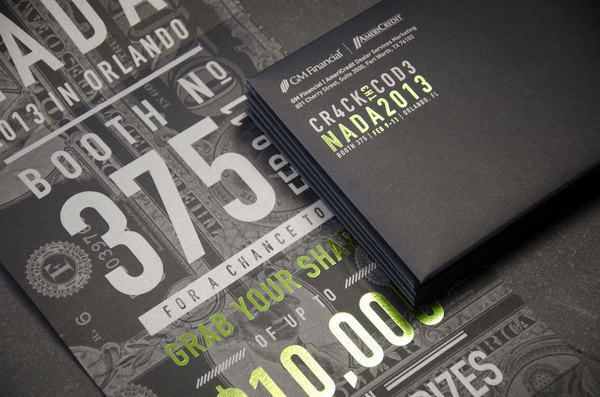 GM Financial NADA 2013 Invitations #design #graphic #quality #typography