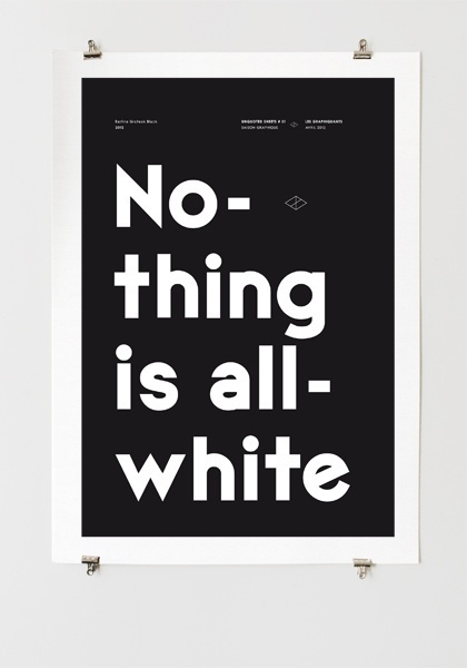All White #graphiquerie #poster