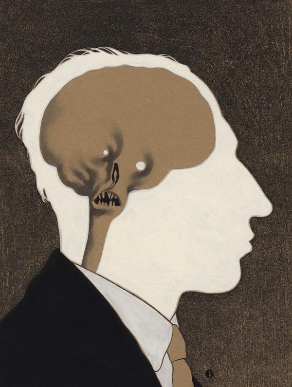 Edward Kinsella Illustration #interior #mind #design #head #anatomy #thinking #illustration #conscience #art #skull