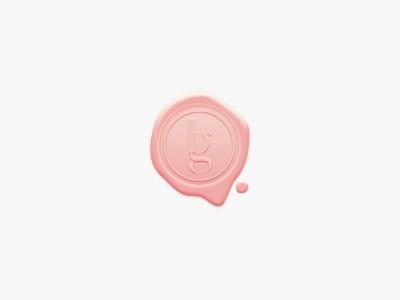Brendaguardado #wedding #logotype #stamp #peach #logo #wax