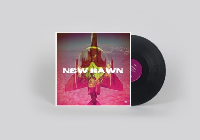 Wizard: New dawn #album #clouds #fighter #artwork #cover #vinyl #plane #pilot #mask #mig