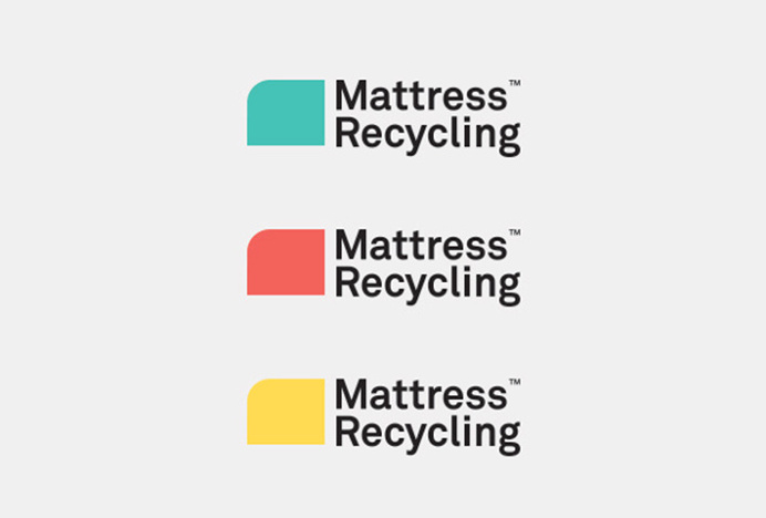 Mattress Recycling by Brief #logo #logotype #typography #colourful