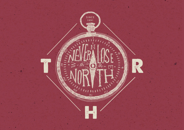 T-shirts designs II on Behance #north #heymikel #artwork #illustration #compass #drawing