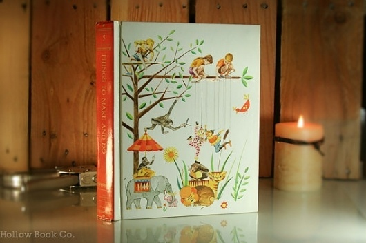 Things To Make And Do Hollow Book by hollowbookcompany on Etsy #fantasy #tree #zoo #book #hollow #animals #kids #children