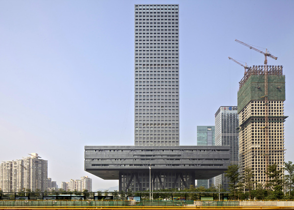 OMA completes Shenzhen Stock Exchange #rem #koolhaas #skyscraper #china #architecture
