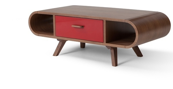 Fonteyn Coffee Table in walnut and red | made.com #furniture #table #home