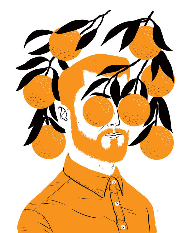 greenpeace magazine : Paul Blow #illustration #orange #black