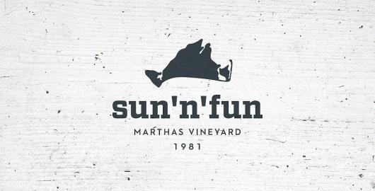Sun 'n' Fun Rentals by Focus Lab, LLC #branding #design #wood #island #marthas #logo #vineyard