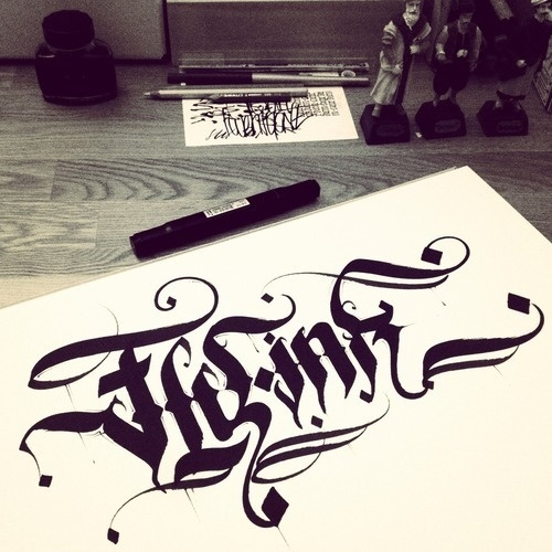 My twitter feed #calligraphy #ink