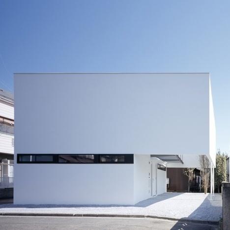 Dezeen architecture and design magazine #slit #house #box