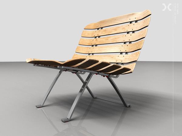 Deck Chair #chair #design #industrial #skate #skateboard