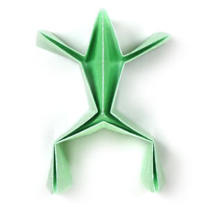 How to make a simple origami frog (http://www.origami-make.org/howto-origami-frog.php)