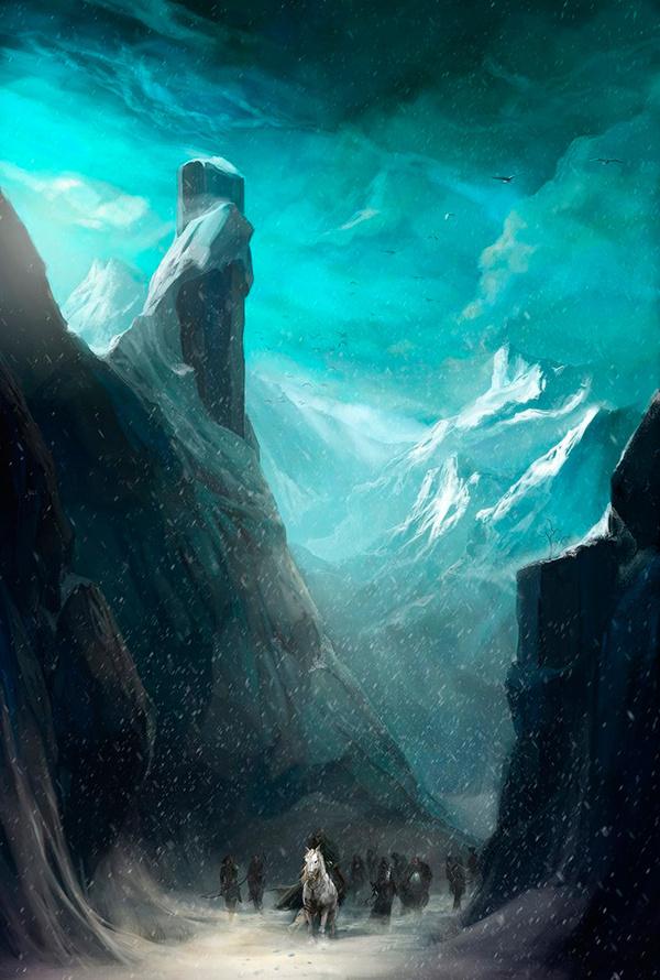 The Art Of Animation, Adams Brenoch #horses #mountain #fantasy #snow #landscape #illustration #concept #art #winter