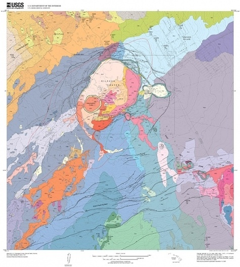 Beautiful Destruction: 11 Gorgeous Geological Maps of Volcanoes | Wired Science | Wired.com #science #map