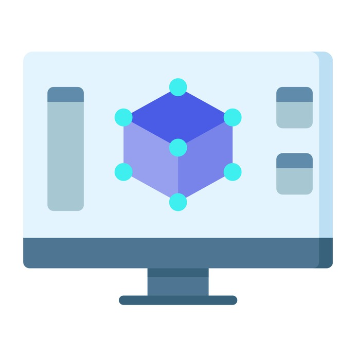 See more icon inspiration related to program, 3d, design, monitor, 3d modeling, art and design, modeling, electronics, screen and computer on Flaticon.