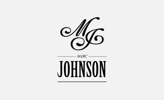 Marc Johnson identity concepts / 2011 on the Behance Network #monogram #logo #identity