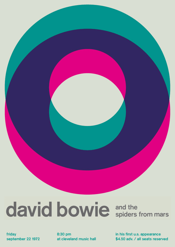 david bowie at cleveland music hall, 1972 - swissted