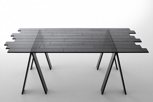 Transparent Table - today and tomorrow #black #transparent #furniture #table #nendo