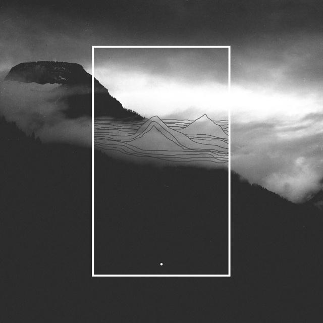 this is your mind. #black and white #collage #lines #doodle #art #artwork #album art #mountains #vsco #clouds #nature #landscape #design #gr