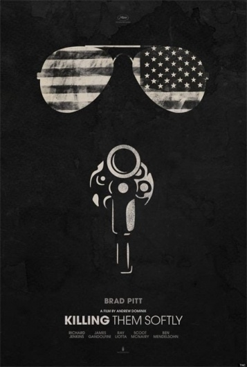 First_Poster_For_Killing_Them_Softly_Goes_Minimalist_1337635526.jpg (JPEG Image, 480 × 711 pixels) #gun #sunglasses #texture #illustration #patriotic #minimalist