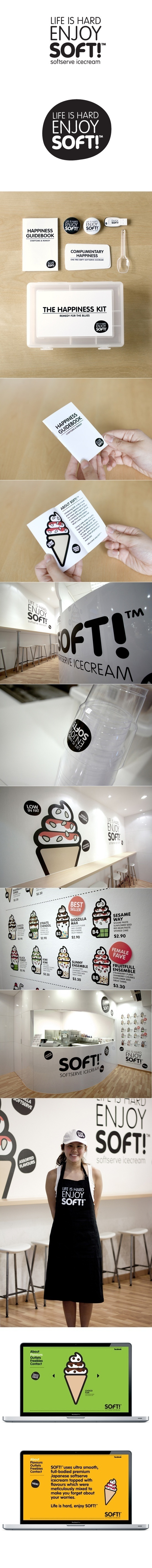 SoftTM branding by Bravo Company #cream #ice #branding #retail
