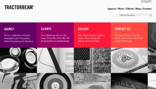 Tractorbeam - Web design inspiration from siteInspire #website