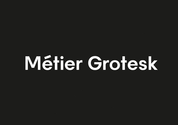 Metier A Bespoke Typeface for Intern Magazine. Designed by She Was Only #font #grotesk #typeface #custom