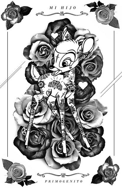 bambi white | Flickr - Photo Sharing! #illustration #poster