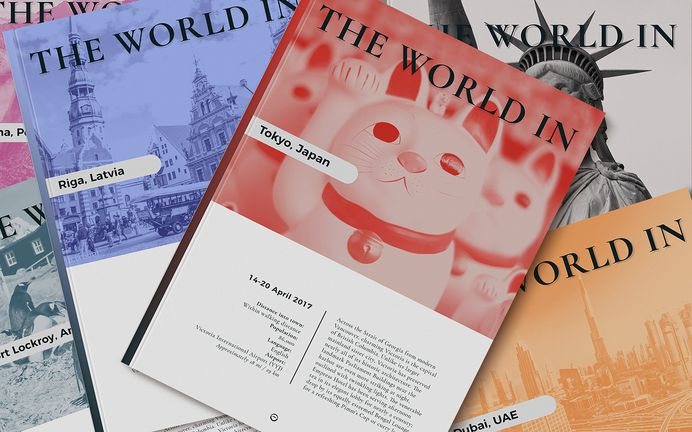 Rebranding The World Travel Publications on Behance - travel port guides for a luxury ship