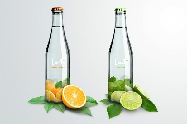 LEVITÉ mineral water on the Behance Network #water #bottle #design #levite #package