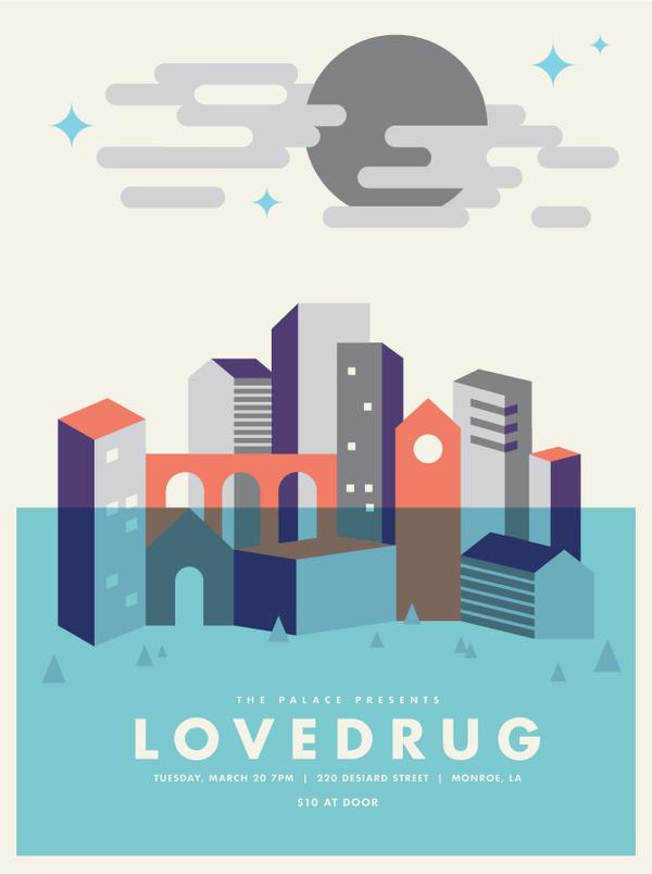 Lovedrug Poster - Jake Dugard #lovedrug #illustration #poster