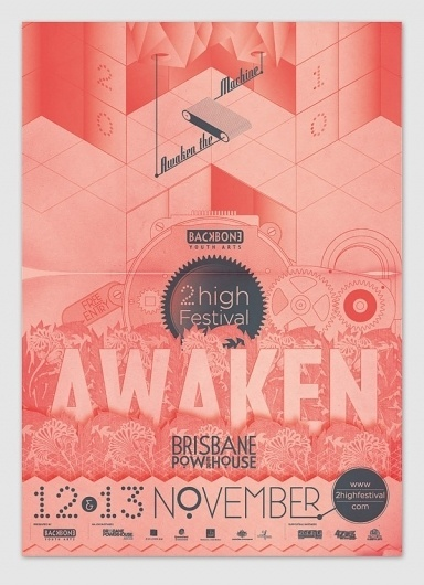 2high Festival 2010 on the Behance Network #design #graphic #poster