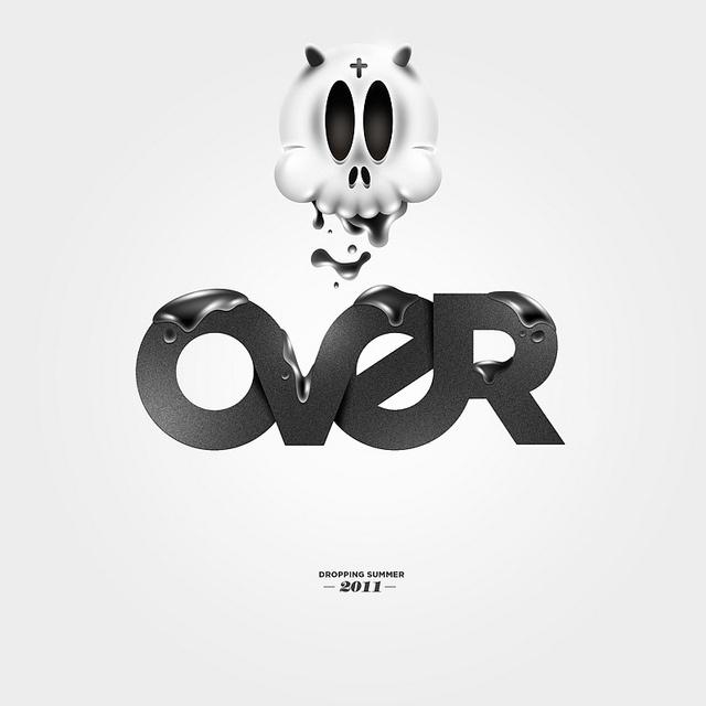 OVER #inspiration #illustration #typography