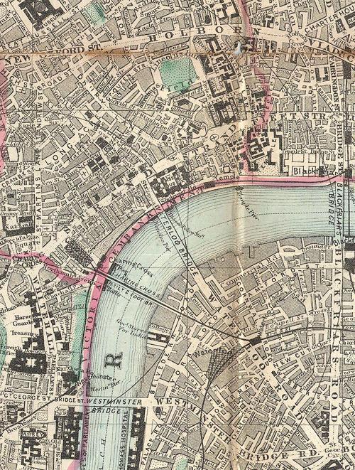 pocket map of london c 1890 waterloo 1890 london map