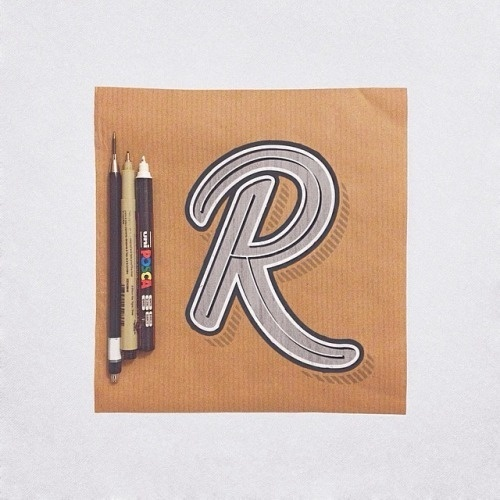 R by James Lewis #letter #lettering #typography