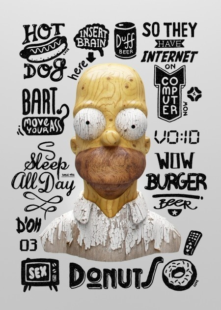 Homer's Thoughts by Noeeko image 2 #design #poster