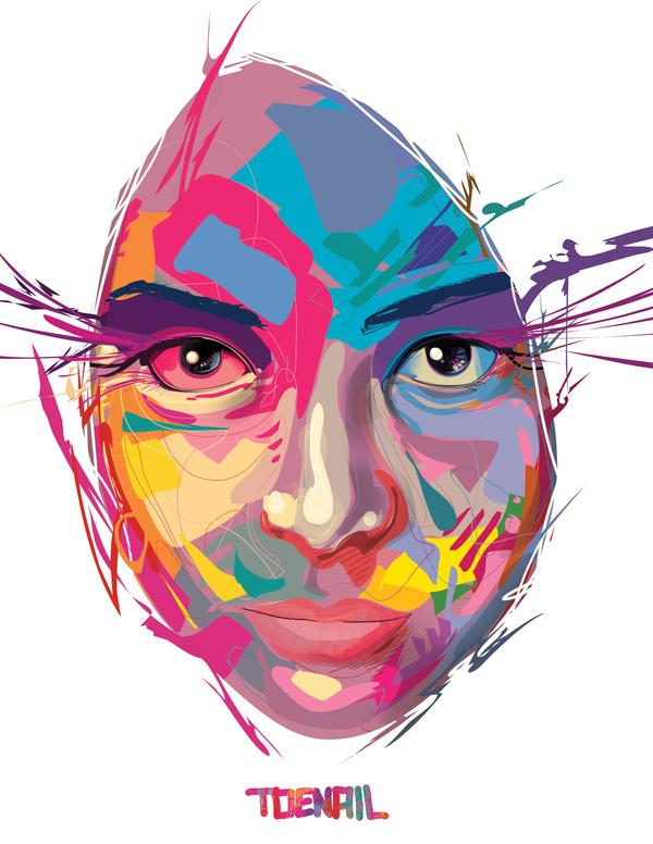Vector Designs by Angel Rodriguez (Toenio) at Coroflot.com #vector #woman #color #digital #illustration #art #beautiful