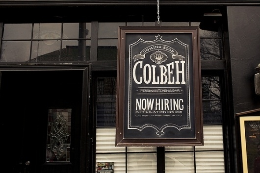 Colbeh Chalk Lettering on the Behance Network #lettering #hand #typography