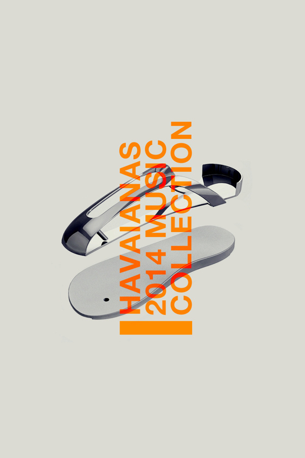 Havaianas Music Collection 2014 (Concept) #havaianas #orange #flop #flip #slipper #product #elia #pirazzo